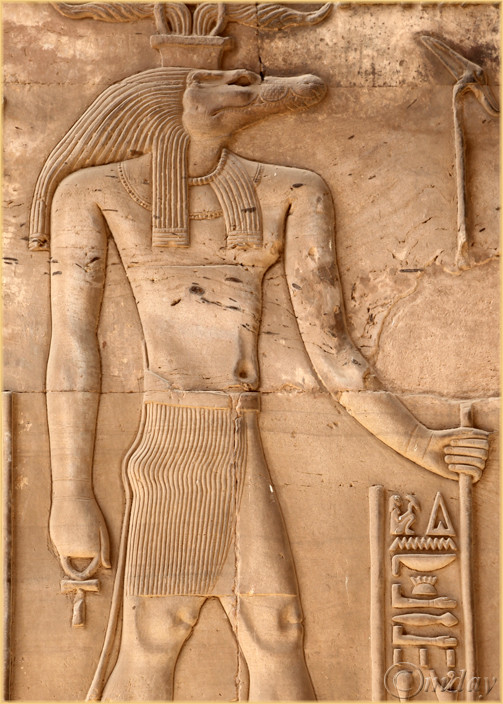 Relief of crocodile-headed god Sobek