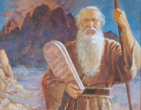 Moses with tablets of stone